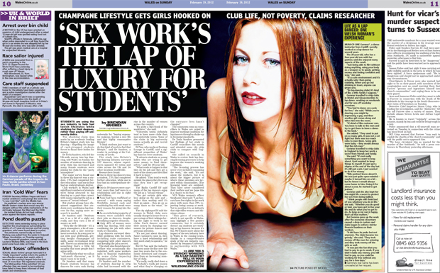 Students lap dance to 'fund lavish lifestyles' - Wales on Sunday