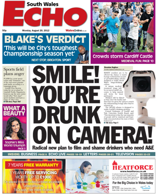 Smile! You're drunk on camera! - South Wales Echo